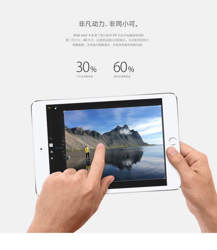 apple/苹果 ipad mini4 wifi版 64g(金)
